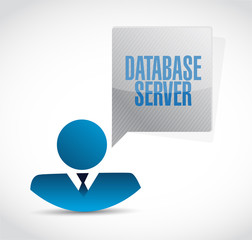 database server business avatar sign illustration