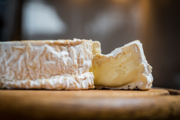 Whole camembert cheese