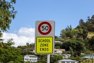 School Zone Ends