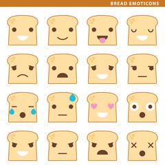 bread emoticons