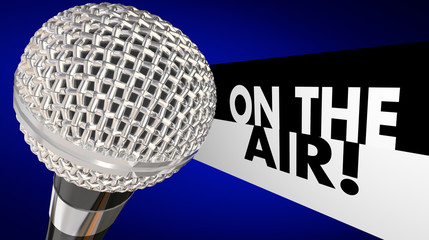 On the Air Microphone Words Live Program Broadcast Talk Show