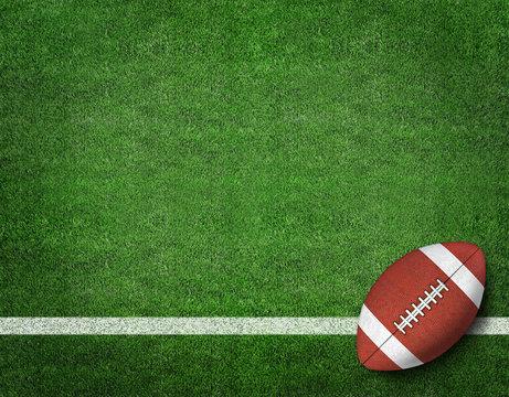 American Football on American Football Field