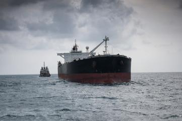crude oil tanker at sea