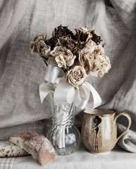 Dried Flowers, Bread & Cup