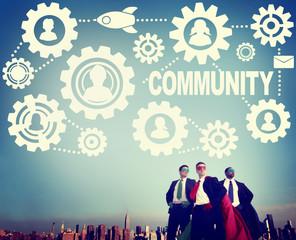 Community Connection Society Social Media Social Network Concept