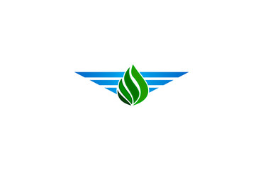 green nature wings logo