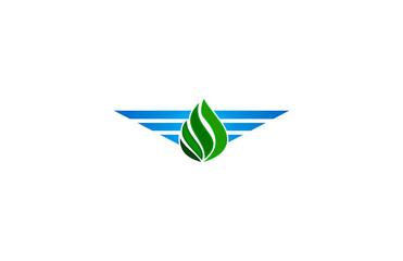 green nature wings logo