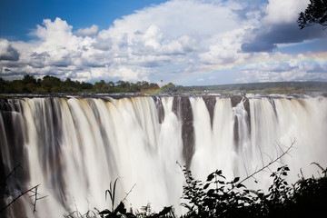 Wall Mural - Victoria Falls Rainbow - Frontal View
