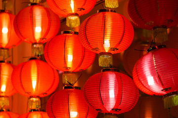 Chinese lamp in Chinese New Year