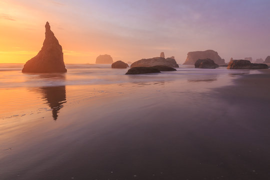 Bandon Beach in South Oregon