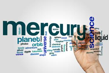 Mercury word cloud concept