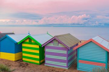 Brighton small bathing houses, Australia