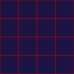 Red Grid Square Royal Blue Background Vector Illustration