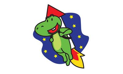 Dinosaur To The Moon