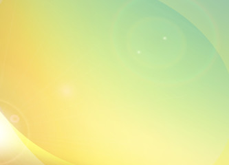 Summer feeling, light yellow orange green graphic background with rainbow flare,To adapt idea for brochure advertising,wallpaper,presentation layout,graphic workspace,vector, illustration