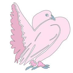 pink silhouette dove