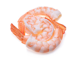 shrimps isolated on  white background
