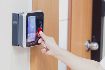 electronic key and finger access control system to lock and unlo