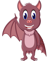 Bat cartoon flying of illustration