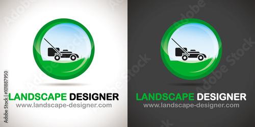 Logo paysagiste jardinier stockfotos und lizenzfreie for Jardinier paysagiste 94