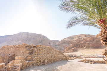 Excavations in Qumran, where Essenes hide scrolls with the Bible
