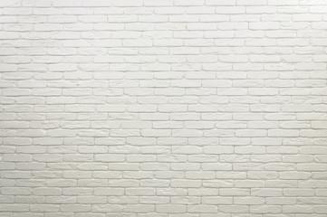 The brick white wall