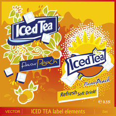 Iced Tea label elements 3