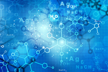 Abstract Molecules.  science and technology  background.