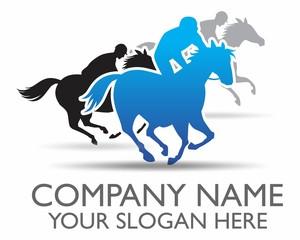 riding horse logo vector