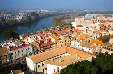 Day view of Tortosa from Suda castle. Catalonia