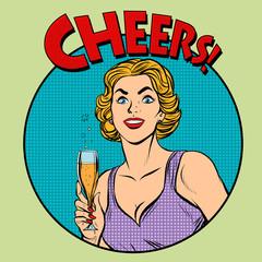 Cheers toast celebration woman