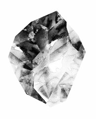 Watercolor gemstone. mineral. abstract illustration