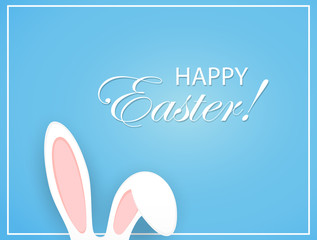 Happy Easter background with rabbit ears