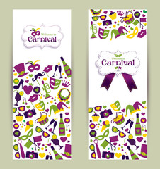 Bright vector carnival banners