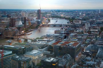LONDON, UK - MAY 22, 2015:  London at sunse