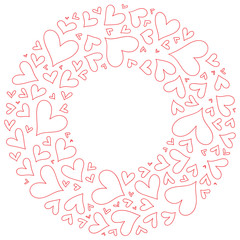 Hand drawn Valentine's day vector background with heart.