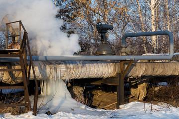 pipe breakage running hot water