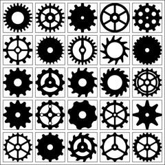 Set of gear wheels for desing.