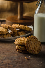 Cookies with peanut butter wholegrain