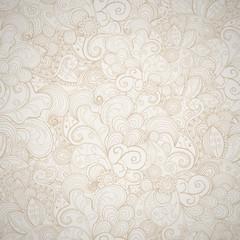 Floral seamless beige  background.
