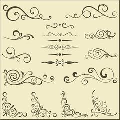 Set of swirl elements for design.