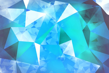 blue geometric rumpled triangular low poly origami style gradien