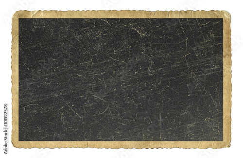 Wall mural Blank vintage photo paper isolated