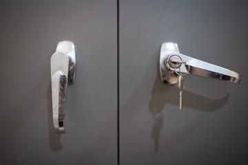 open door, key to open the lock door