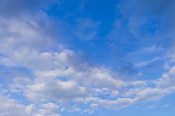 beautiful group white cloud and blue sky background