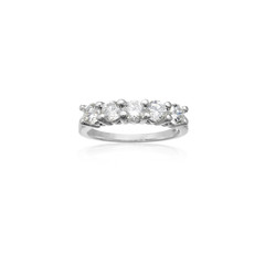 Fiery Five Diamond Ring in White Gold