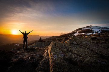Foto auf Acrylglas Bergsteigen Alpiniste concept succès