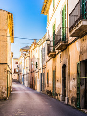 Wall Mural - View of an rustic alleyway at an mediterranean old town