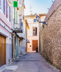 Wall Mural - View of an rustic old town street