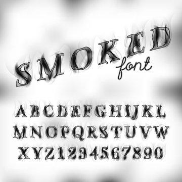 Smoked font set